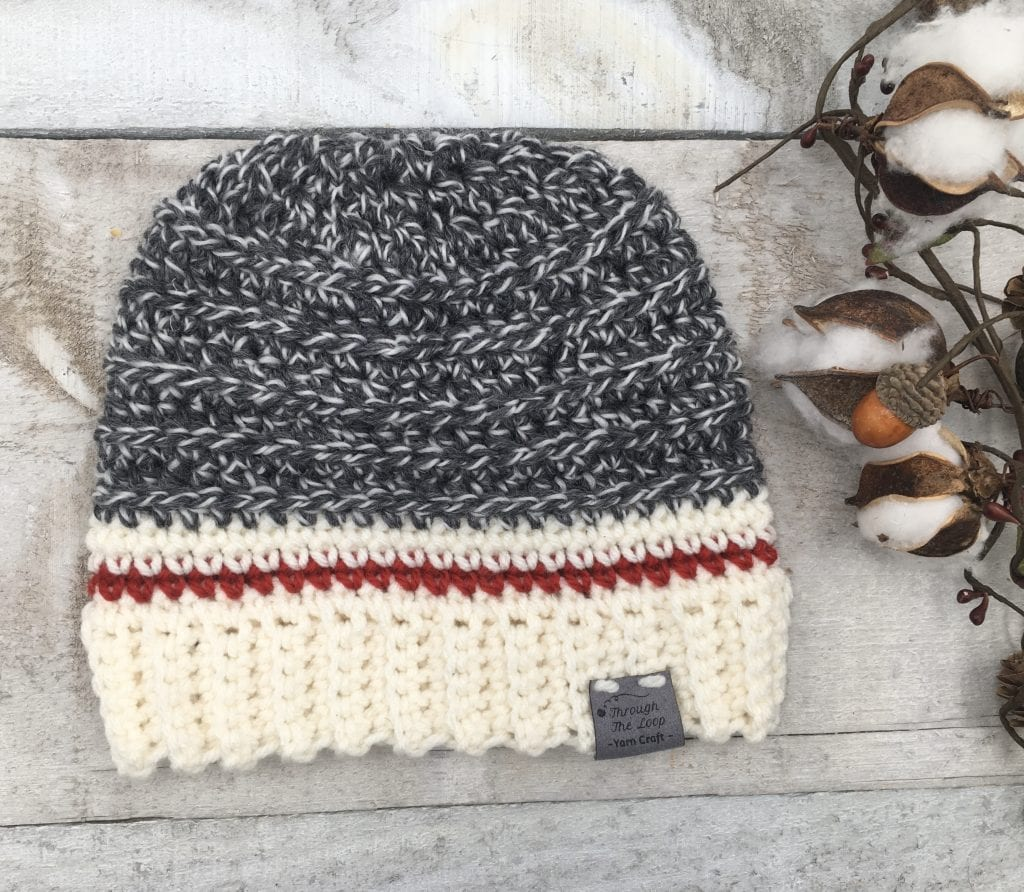 The Monkey Around Beanie Free Crochet pattern is a classic style with a modern twist. A quick and simple crochet pattern that's great for any gender.
