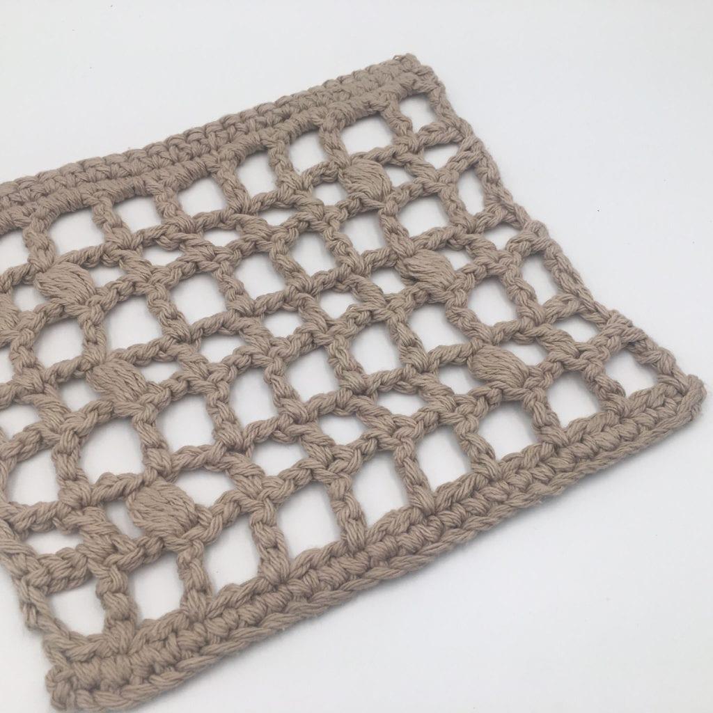 Trellis Trivet Free Crochet Pattern