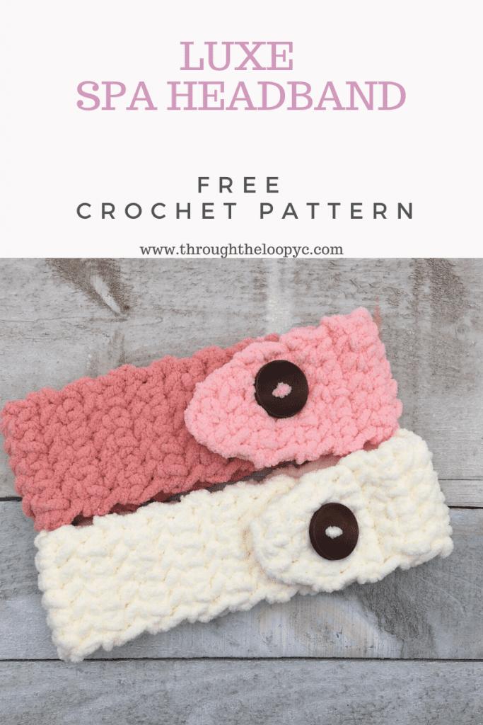 Luxe Spa Headband Free Crochet Pattern