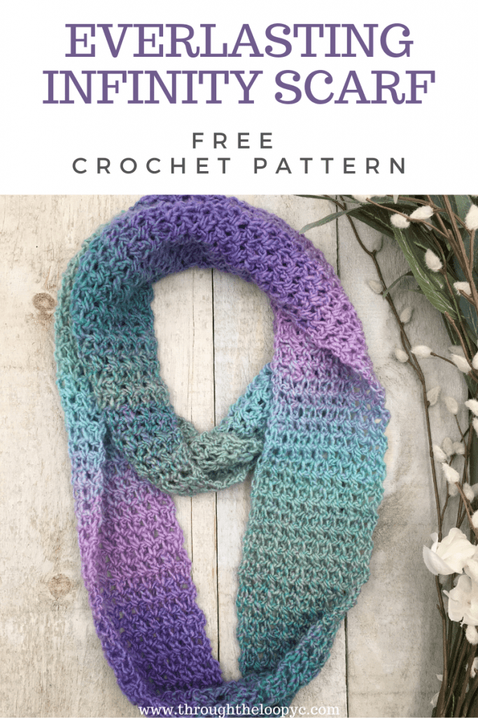 Everlasting Infinity Scarf Free Crochet Pattern