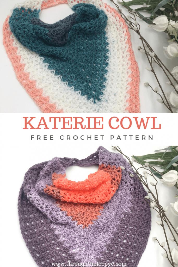 Katerie Cowl Free Crochet Pattern