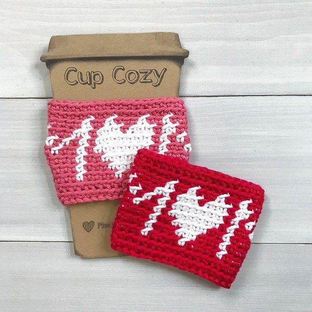 Mom Cup Cozy Crochet Pattern: Mothers Day Gift