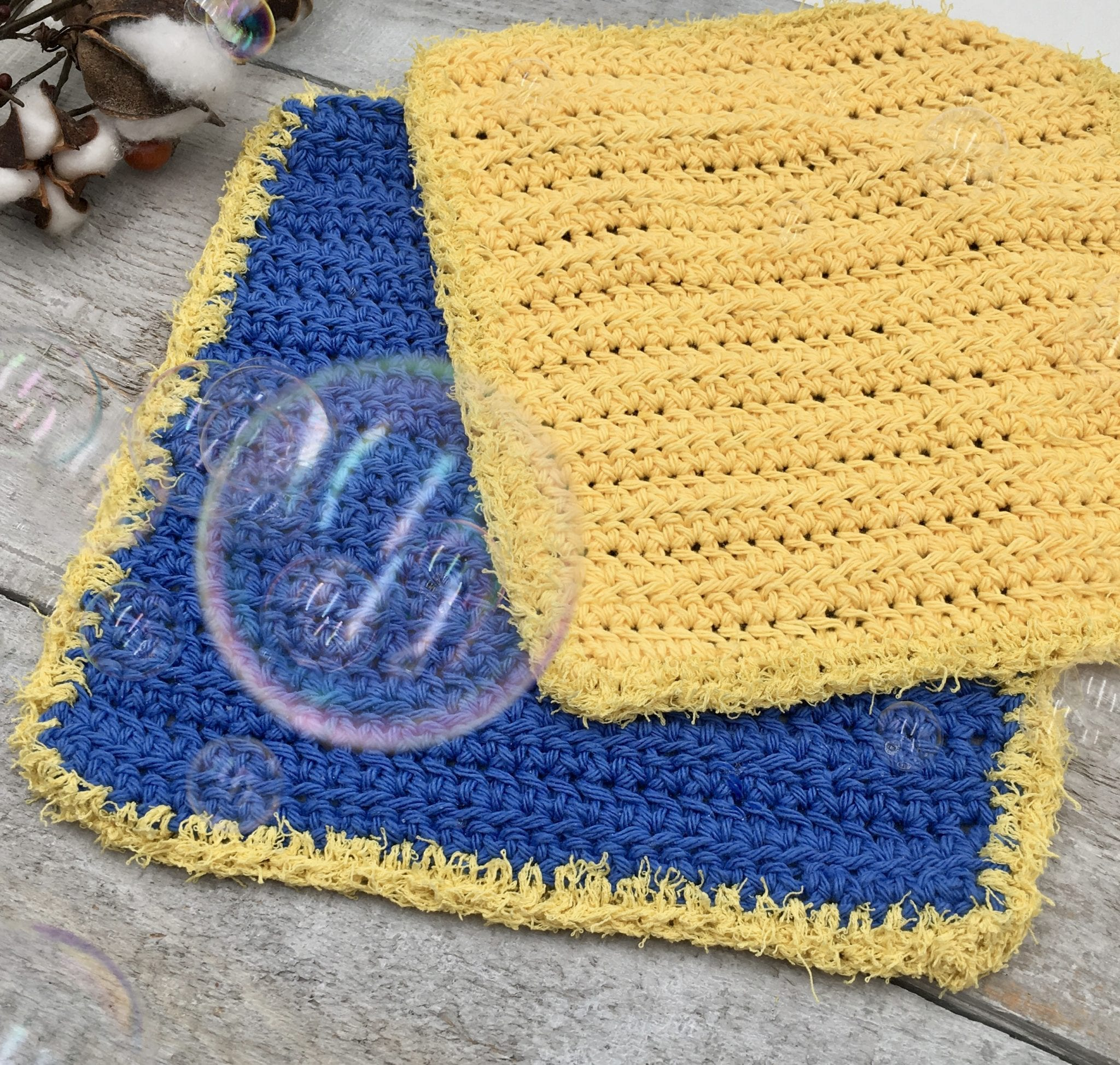 Somerside Dishcloth by Through the Loop Yarn Craft