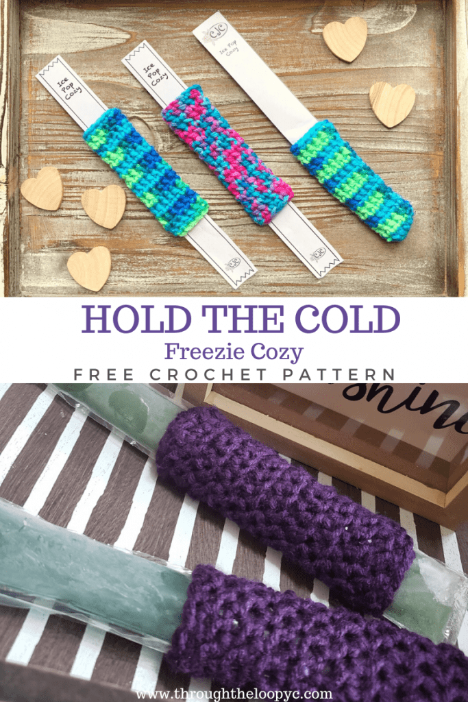 Hold The Cold Freezie Cozy Free Pattern
