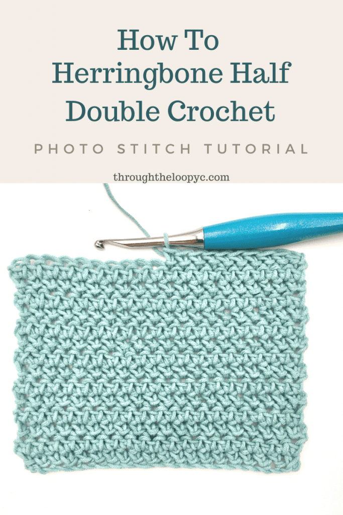 How To Herringbone Half Double Crochet. .A photo stitch tutorial.