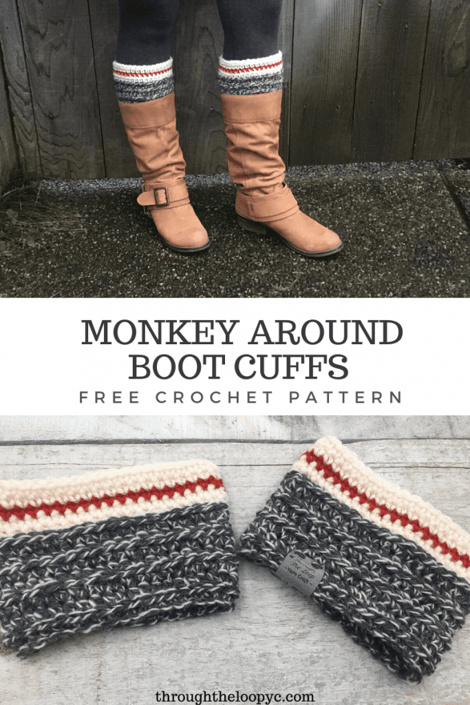 Monkey Around Boot Cuffs Free Crochet Pattern