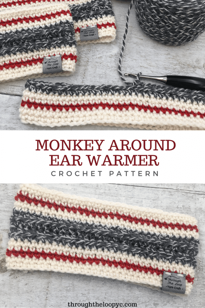 The Monkey Around Ear Warmer is a classic design with a modern twist. The quick and easy crochet pattern is great for beginners.