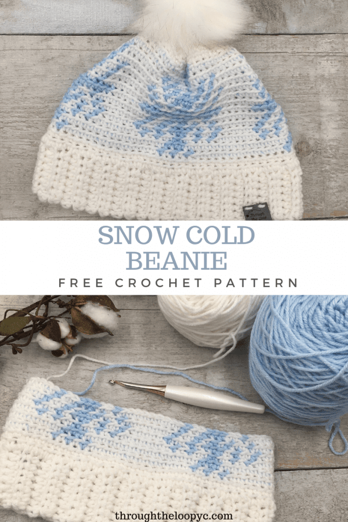 The Snow Cold Beanie is a quick make and great for beginner tapestry crochet